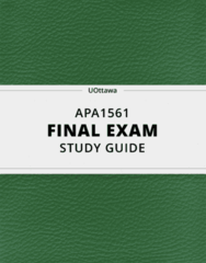 APA1561- Final Exam Guide - Comprehensive Notes for the exam ( 33 pages long!)