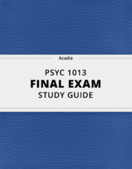 PSYC 1013- Final Exam Guide - Comprehensive Notes for the exam ( 25 pages long!)