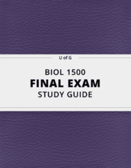 BIOL 1500- Final Exam Guide - Comprehensive Notes for the exam ( 23 pages long!)