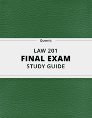 LAW 201- Final Exam Guide - Comprehensive Notes for the exam ( 59 pages long!)
