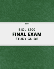 BIOL 1200- Final Exam Guide - Comprehensive Notes for the exam ( 24 pages long!)
