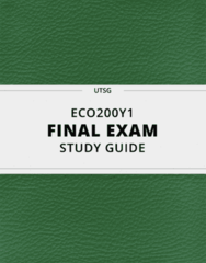 ECO200Y1- Final Exam Guide - Comprehensive Notes for the exam ( 55 pages long!)