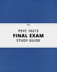 PSYC 10213- Final Exam Guide - Comprehensive Notes for the exam ( 47 pages long!)