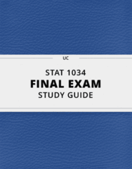 STAT 1034- Final Exam Guide - Comprehensive Notes for the exam ( 41 pages long!)