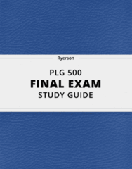 PLG 500- Final Exam Guide - Comprehensive Notes for the exam ( 32 pages long!)