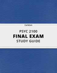 PSYC 2100- Final Exam Guide - Comprehensive Notes for the exam ( 51 pages long!)