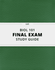 BIOL 101- Final Exam Guide - Comprehensive Notes for the exam ( 117 pages long!)