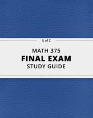 MATH 375- Final Exam Guide - Comprehensive Notes for the exam ( 49 pages long!)