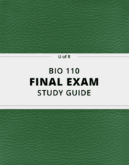 BIO 110- Final Exam Guide - Comprehensive Notes for the exam ( 120 pages long!)