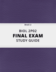BIOL 2P02- Final Exam Guide - Comprehensive Notes for the exam ( 82 pages long!)