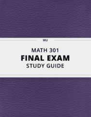 MATH 301- Final Exam Guide - Comprehensive Notes for the exam ( 25 pages long!)