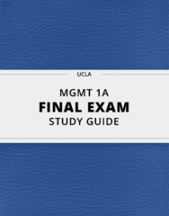 MGMT 1A- Final Exam Guide - Comprehensive Notes for the exam ( 125 pages long!)