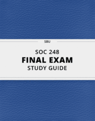 SOC 248- Final Exam Guide - Comprehensive Notes for the exam ( 180 pages long!)