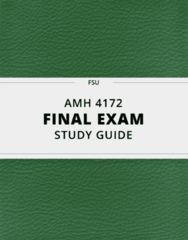 AMH 4172- Final Exam Guide - Comprehensive Notes for the exam ( 50 pages long!)