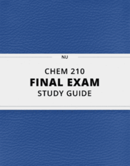 CHEM 210- Final Exam Guide - Comprehensive Notes for the exam ( 86 pages long!)