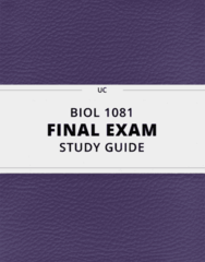 BIOL 1081- Final Exam Guide - Comprehensive Notes for the exam ( 100 pages long!)