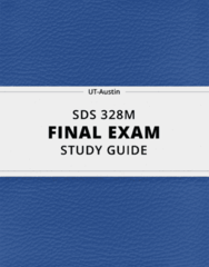 SDS 328M- Final Exam Guide - Comprehensive Notes for the exam ( 54 pages long!)
