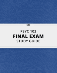 PSYC 102- Final Exam Guide - Comprehensive Notes for the exam ( 54 pages long!)