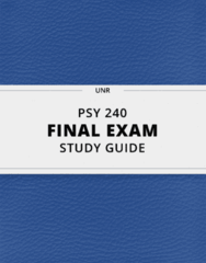 PSY 240- Final Exam Guide - Comprehensive Notes for the exam ( 69 pages long!)