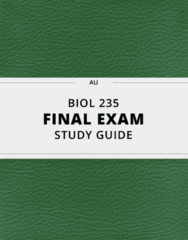 BIOL 235- Final Exam Guide - Comprehensive Notes for the exam ( 387 pages long!)