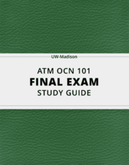 ATM OCN 101- Final Exam Guide - Comprehensive Notes for the exam ( 121 pages long!)