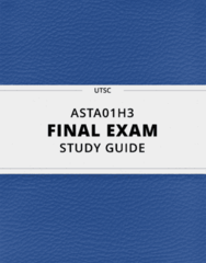 ASTA01H3- Final Exam Guide - Comprehensive Notes for the exam ( 33 pages long!)