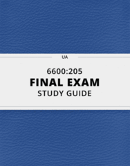 6600:205- Final Exam Guide - Comprehensive Notes for the exam ( 51 pages long!)