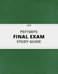PSY100Y5- Final Exam Guide - Comprehensive Notes for the exam ( 92 pages long!)
