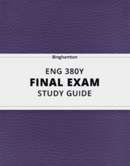 ENG 380Y- Final Exam Guide - Comprehensive Notes for the exam ( 29 pages long!)
