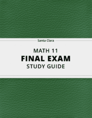 MATH 11- Final Exam Guide - Comprehensive Notes for the exam ( 45 pages long!)
