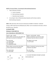 MGMT 1A Lecture Notes - Lecture 8: Cash Flow Statement, Historical Cost, The Royal And Ancient Golf Club Of St Andrews