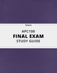 APC100- Final Exam Guide - Comprehensive Notes for the exam ( 111 pages long!)