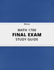 MATH 1700- Final Exam Guide - Comprehensive Notes for the exam ( 86 pages long!)