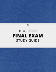 BIOL 5060- Final Exam Guide - Comprehensive Notes for the exam ( 171 pages long!)