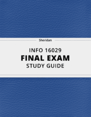 INFO 16029- Final Exam Guide - Comprehensive Notes for the exam ( 116 pages long!)