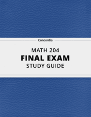 MATH 204- Final Exam Guide - Comprehensive Notes for the exam ( 181 pages long!)