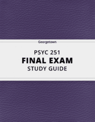 PSYC 251- Final Exam Guide - Comprehensive Notes for the exam ( 49 pages long!)