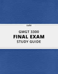 GMGT 3300- Final Exam Guide - Comprehensive Notes for the exam ( 104 pages long!)
