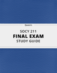 SOCY 211- Final Exam Guide - Comprehensive Notes for the exam ( 43 pages long!)