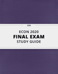 ECON 2020- Final Exam Guide - Comprehensive Notes for the exam ( 23 pages long!)