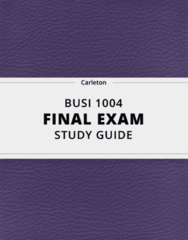 BUSI 1004- Final Exam Guide - Comprehensive Notes for the exam ( 177 pages long!)
