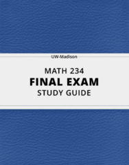MATH 234- Final Exam Guide - Comprehensive Notes for the exam ( 54 pages long!)