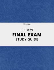 ELE 829- Final Exam Guide - Comprehensive Notes for the exam ( 26 pages long!)