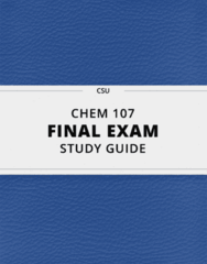 CHEM 107- Final Exam Guide - Comprehensive Notes for the exam ( 160 pages long!)