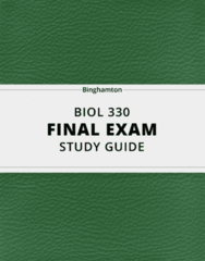 BIOL 330- Final Exam Guide - Comprehensive Notes for the exam ( 81 pages long!)