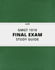 GMGT 1010- Final Exam Guide - Comprehensive Notes for the exam ( 244 pages long!)