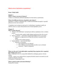 BIOL 1200 Study Guide - Midterm Guide: Jean-Baptiste Lamarck, Catastrophism, Molecular Clock