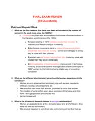 SOC 605 Study Guide - Final Guide: Elder Abuse, Preferred Stock, Social Stigma