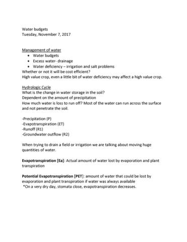 agr-2320-lecture-34-water-budgets-nov-7agr2320