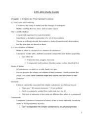 CHE 201 Lecture 1: CHE 201 Study Guide through mideterm